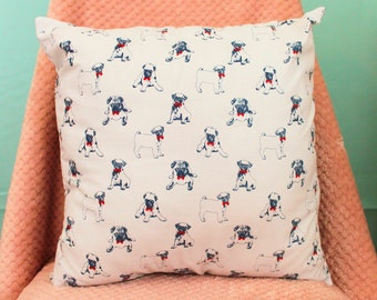 White Pug print Envelope Cushion