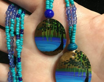 Beaded Spring Lake Necklace