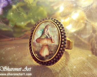 Fairy Ring - Fantasy jewelry, Fantasy Ring, Magical Ring, Fairy Ring, Fiary Jewelry, Glass ring, Vintage Ring, Gift for Her