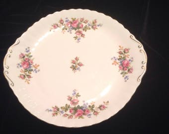 Royal Albert Moss Rose Cake Plate