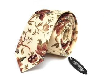 Mens Tie Floral Wedding necktie Men's necktie Groomsmen Wedding tie TC066