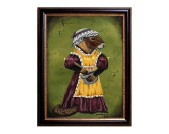 Victorian Lady Yellow Bellied Marmot