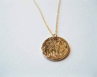 Gold disc necklace, gold medallion necklace, gold bead necklace , gold disc jewelry, layering necklace, layering jewelry, bohemian necklace