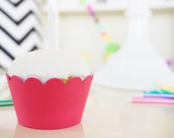 DARK PINK Cupcake Wrappers - Set of 24