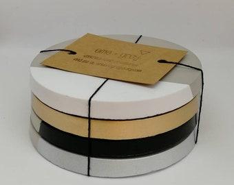 Concrete Coasters. Concrete Gifts. Set of 4 Concrete - Choice of Colours. Concrete homeware