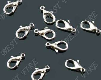 20 pcs of Solid Brass lobster claw clasp 8x15mm