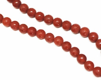 Carnelian Round Beads with Chinese Calligraphy