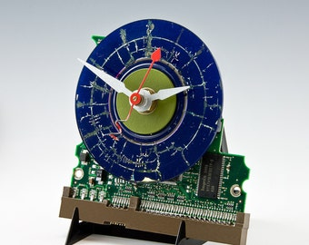 computer art clock #103 navy