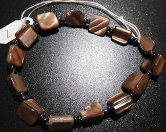 Beautiful stone brown bracelet