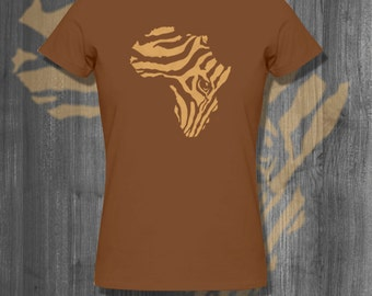 Zebra Striped Africa T shirt Afrocentric T-Shirt Plus Size Clothing African Clothing Shirt clothing sales gifts for her sale custom