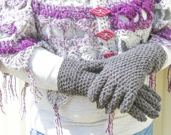 Crochet Glove Pattern – Country Market Collection – Crochet Gloves – Full Fingers – Crochet Pattern