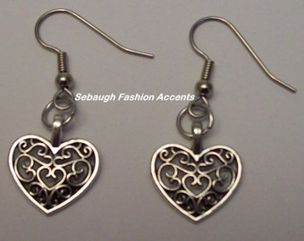 Assorted Pewter Charm Earrings