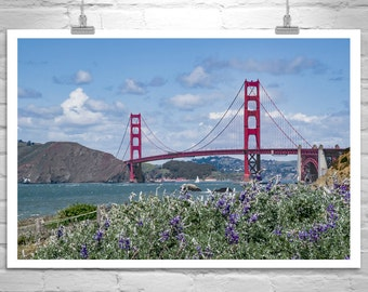 Baker Beach Photo, Golden Gate Bridge Photo, San Francisco Photo, Sailing Art, California Art, Golden Gate Bridge Sailboat Photograph