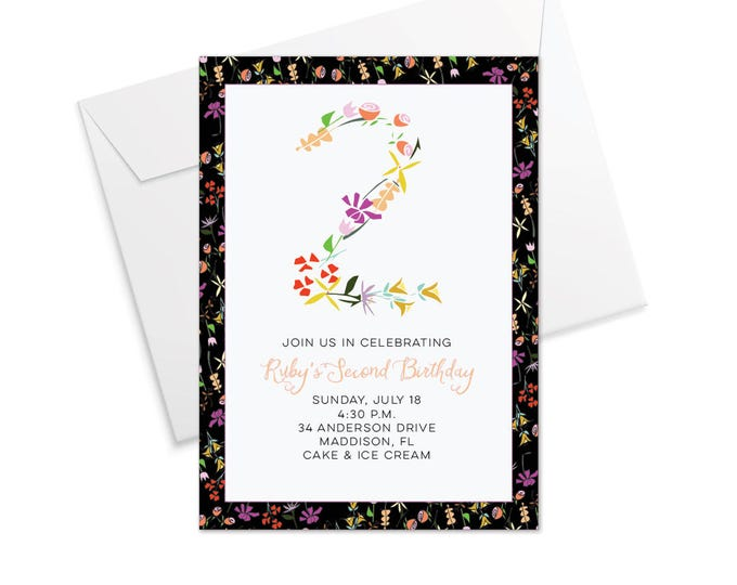 Floral Birthday Invitation