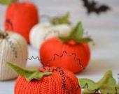 Pumpkins-Knitted Pumpkins-Autumn Decoration-Halloween Decoration-Fall Decoration-Knitted Vegetables-Autumn Ornaments-Felt Pumpkins