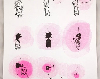 "Risograph print ""Suns Out, Guns Out"" by Sara Lautman"