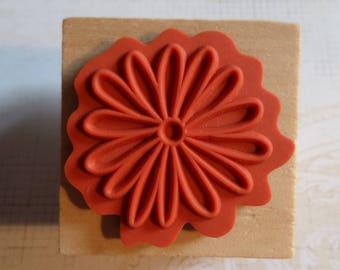 Stamp wood flower shape