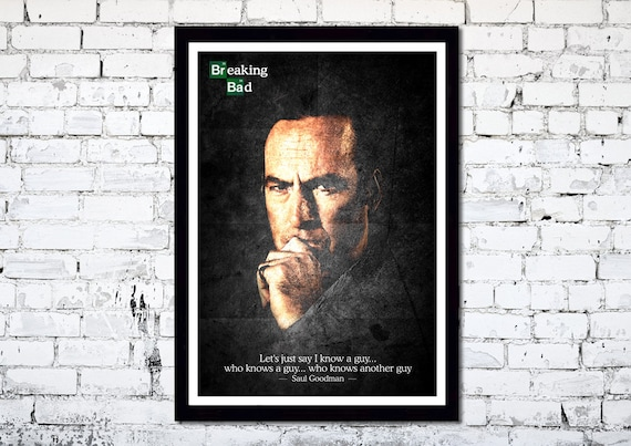 Breaking Bad // Better Call Saul // Saul Goodman // Bob Odenkirk // TV Poster // Unique Art Print