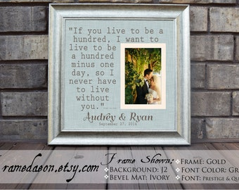 Wedding gift frame - Personalized Wedding Gift Framed - personalized frame - Wedding frame - quote frame - 15x15