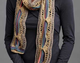 Crochet Pattern- A Tangle of Color Scarf crochet pattern