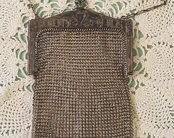 Vintage Whiting & Davis Silver Mesh Bag