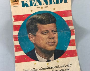 President John F. Kennedy keepsake, John F Kennedy pamphlet, John F Kennedy promotional flyer, presidential flyer, presidential keepsake
