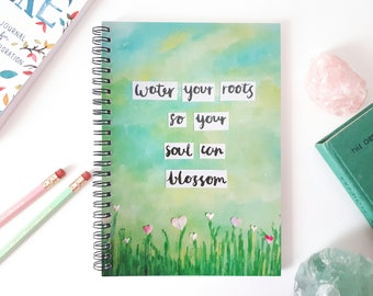 A5 lined self care notebook - Inspirational quote - Uplifting gift - Gift for friend - Motivational gift - Encouraging gift - Quote notebook