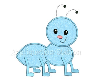 Cute Bugzee Ant Applique Machine Embroidery Design boy/girl baby insect bug INSTANT DOWNLOAD