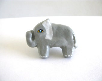 Elephant Drawer Knob - ceramic pull for dresser drawers