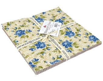 Regent'S Park Floral Cotton Fabric~10In Squares By Maywood Studio
