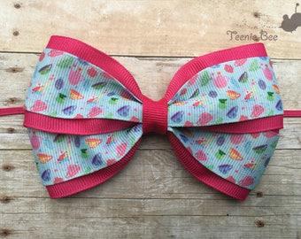 Alice in Wonderland Bow - White Rabbit Bow - Mad Tea Party Bow - Alice in Wonderland Headband - White Rabbit Headband