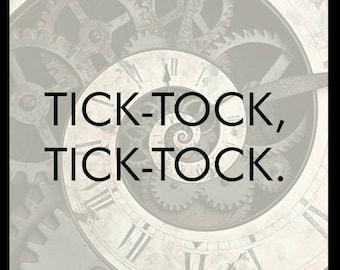 Tick-Tock Diginat Print