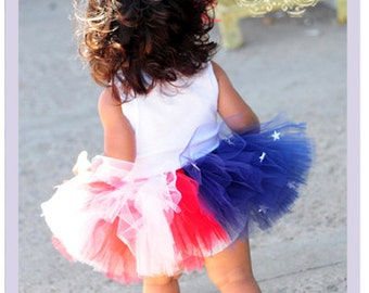 American Flag Tutu 4th Of July Tutu Dress July 4th Patriotic Toddler Dress Red White And Blue Tutu 9 12 18 Months