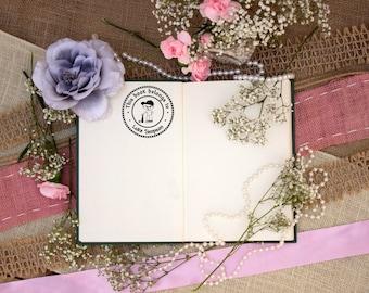 Self Inking Kids Stamp, This Book Belongs to Stamp, Personalized Kids Stamp, Custom Stamp, Kids Stamp, Baseball --12006-PI53-000