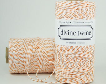 10 yards/ 9.144 m Orange and White Bakers Twine
