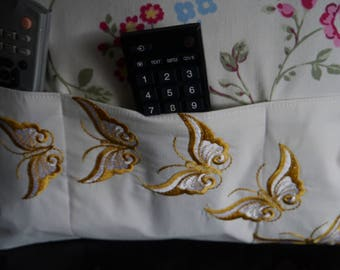 Butterfly remote control cushion cover
