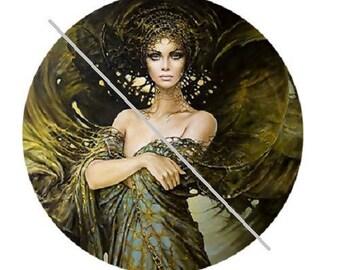 1 inch , pretty goddess of the earth, fairy