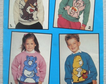 vintage Care Bears JUMPERS knitting pattern