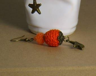 Bright Tangerine earrings