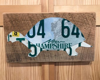 New Hampshire Terrence the Turtle License Plate Art Sign