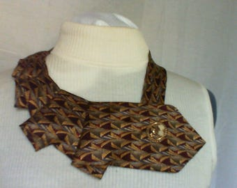 2005 TY TY Rust Gold and Blue Scarf