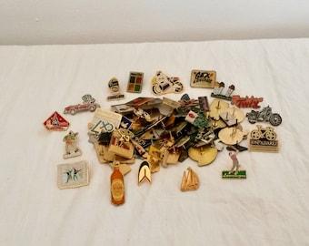 80 Assorted Pins, Crafter Enamel Pins, Backpack Pins, Crafter Enamel Pins, Art Lapel Pins, Craft Supply Pins, Pin Badge