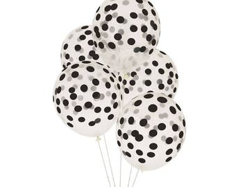 Black Confetti Balloons