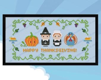 Thanksgiving sampler - PDF cross stitch pattern