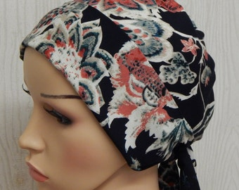 Chemotherapy head wear, chemo bandanna, hair loss head wrap, women's head scarf, cancer headscarf, short hair scarf, head covering