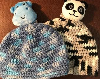 Child's hippo or panda hat