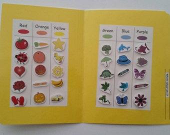 File Folder Game, Colour Activity, Matching Activity, Kindergarten, Preschool, Laminated with Velcro, Homeschool
