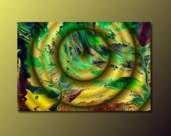 Art Print: Contemplation; abstract fluid art acrylic pour painting; wall art print; housewarming gift