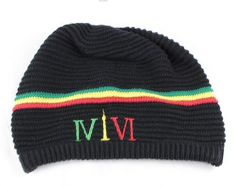 """Toronto Caribana 416 Dreadlock Tams. The Roman numerals stand for """"416"""", with the """"1"""" resembling the CN Tower."""