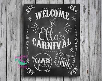 Customized carnival birthday, circus birthday theme, carnival birthday sign, DIGITAL IMAGE